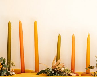 Taper Artesenal Candles  -  Boho Yellow - Dia de los Muertos - Home Decor
