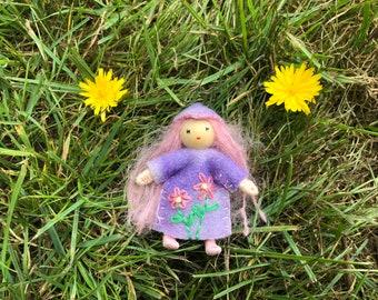 Hyacinth The Little Flower Pixie Bendy Doll Waldorf Toy dollhouse fae pretend play