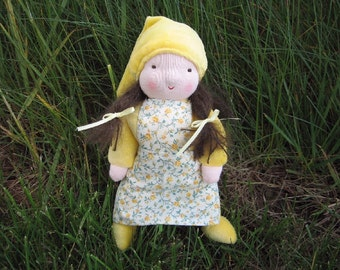 Waldorf Doll Sally the Gnome Girl 8 Inch Waldorf Style Doll