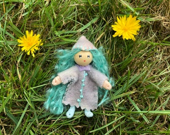 Stormy The Little Ocean Pixie Bendy Doll Waldorf Toy dollhouse fae pretend play