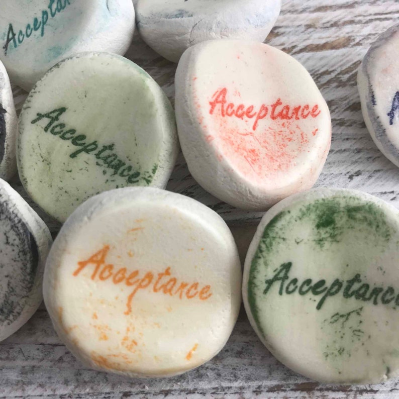 Rocks 10-1000 Qty Acceptance Inspirational Word Stones 10+ Worry Stones {other words available}