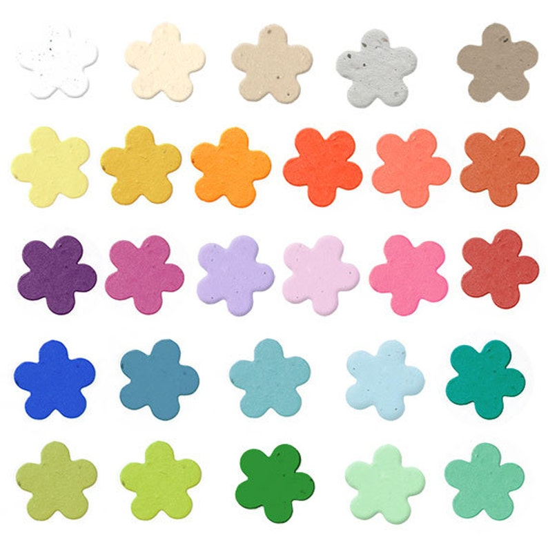 350 Biodegradable Seed Paper Flower Confetti Plantable Your Color Choice Weddings Showers Table Scatter 7 8 Inch