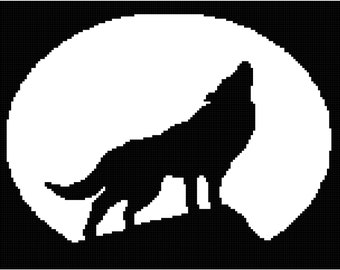 Howling to the moon Throw written Pattern ready for download
