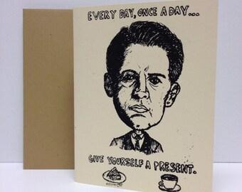 Agent Dale Cooper : Twin Peaks  - Screen Printed Card