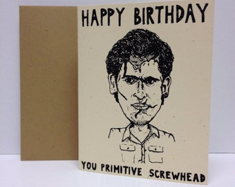 Ash Williams : Army of Darkness  - Screen Printed Card