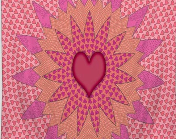 Stars, Heart, Tapestry, Boho Tapestry, Pink tapestry, Tapestry Wall Hanging, mandala tapestry, Girls room decor, Tapestries, Wall Tapestry