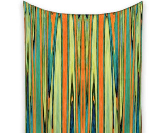 Striped Tapestry, Orange and turquoise, Tapestry Wall Hanging, Tapestry, Wall Tapestries, art tapestry, Wall Tapestry hanging, Tapestries