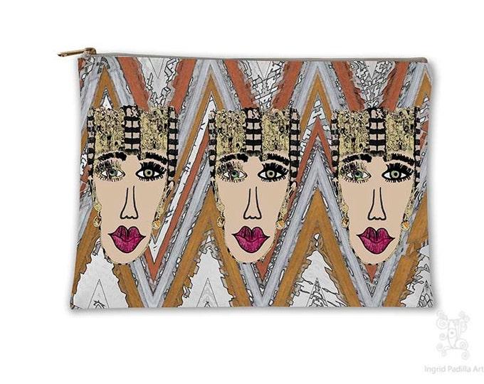 Boho, fashionista, Makeup bag, Cosmetic Bag, Makeup Pouch, Toiletry Bag, Purse Organizer, Bag, Pencil Case, carry all pouch, carry all bag