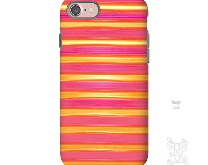 iPhone 7 Case, iPhone 7 plus case, S7 case, Red, pink, yellow, Striped iPhone case, iphone 8 case, iPhone 8 plus case, iPhone 8 case