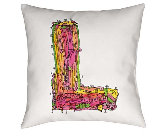 Whimsical Letter L Pillow -- By Ingrid Padilla