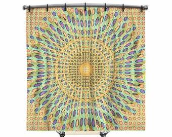 Shower curtain, BOHO Shower Curtain, Fabric shower curtain, Mandala shower curtain, Bohemian shower curtain, Bath Decor, Boho chic Decor