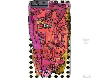 Artsy Phone Case, iPhone 7 plus case, iphone 8 case, iPhone case, iPhone Xs case, iPhone 8 plus case, iPhone 7 case, pink, Galaxy S10 Case