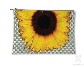 Sunflower, Makeup bag, Cosmetic Bag, Makeup Pouch, Bag, Boho bag, Purse Organizer, Travel Bag, Pencil Case, carry all pouch, carry all bag