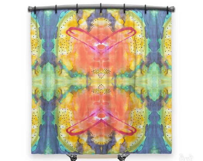BOHO Shower Curtain, Shower curtain, Colorful shower curtain, Abstract shower curtain, shower curtains, Shower curtain art, Bohemian decor
