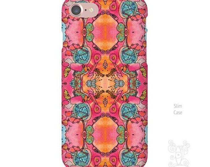 Pink iPhone case, iPhone 7 case, iphone 7 plus case, iPhone Xs case, iphone 8 case, iPhone 11 case, iPhone 8 Plus case, Galaxy S9 Case, boho