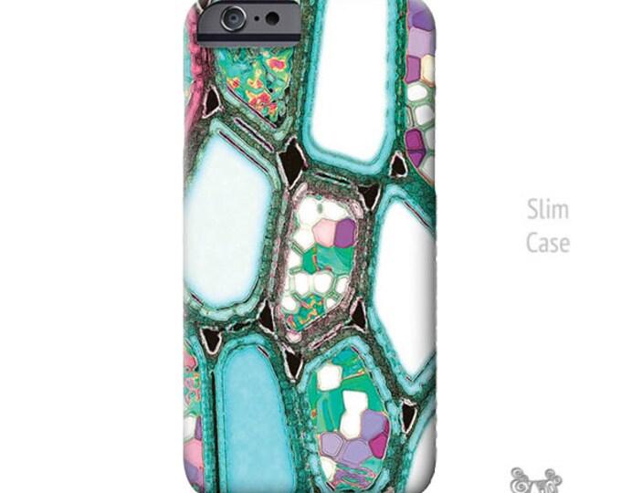 iPhone 7 case, Geometric, iPhone 7 plus case, iPhone Xs case, iPhone 8 plus case, Cells, Turquoise Blue, Art, iphone 8 case, iPhone 11 case