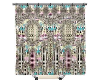 Heathers, Shower curtain, shower curtain boho, Fabric Shower Curtain, Bath Decor, bathroom art, BOHO shower curtain, shower curtains, Artsy