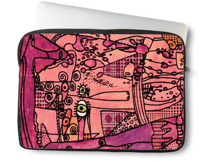Artsy, Laptop bag, laptop case, neoprene, laptop sleeve, Macbook case, Laptop case, Laptop Cover, Abstract Art on Laptop case