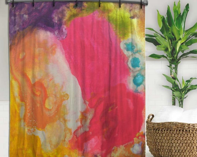 Colorful, Abstract Art Shower Curtain, BOHO, Artsy shower curtain, shower curtains, hippie, Abstract shower curtain, Art on shower curtain