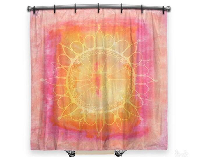BOHO Shower Curtain, Shower curtain, Mandala shower curtain, shower curtains, pink shower curtain, boho curtain, shabby chic shower curtain