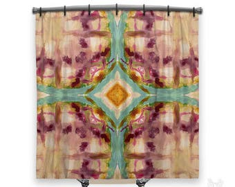 Artsy, BOHO Shower Curtain, Shower curtain, Bohemian shower curtain, Tie Dye shower curtain, Fabric shower curtain, Boho decor, hippie decor