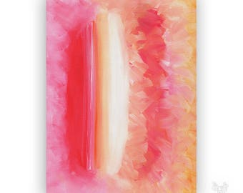 Blanche - Original abstract Painting on Canvas