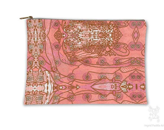 Boho Chic, Makeup bag, Cosmetic Bag, Makeup Pouch, Toiletry Bag, Purse Organizer, Travel Bag, Pencil Case, carry all pouch, carry all bag