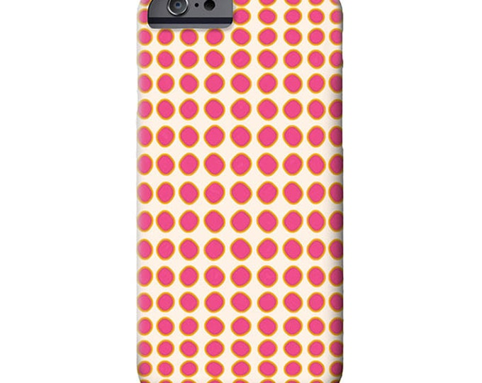 Pink Polka Dot, iPhone 7 case, iphone 8 case, iPhone 8 Plus case, iPhone 7 plus case, Art on iPhone cases, Galaxy S9 Case, iPhone 11 case