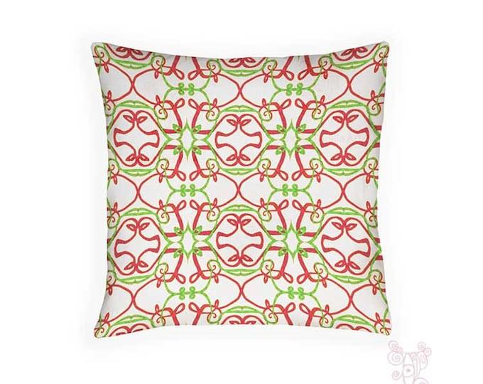 Holiday Pillow, Pillow, christmas pillows, holiday pillows, red and green pillow, Pillows, Christmas Decor, Holiday Decor, decorative pillow