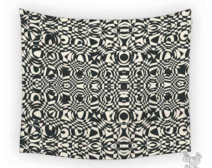 Sheila Tapestry, black and white tapestry, Tapestry, Tapestries, Bohemian tapestries, Wall Tapestry hanging, funky Art Tapestry