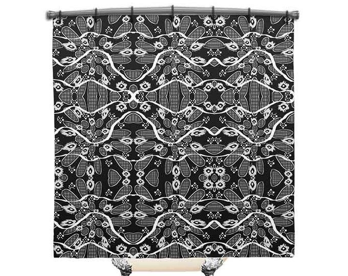 Black and white shower curtain, Shower Curtain, Ingrid Padilla