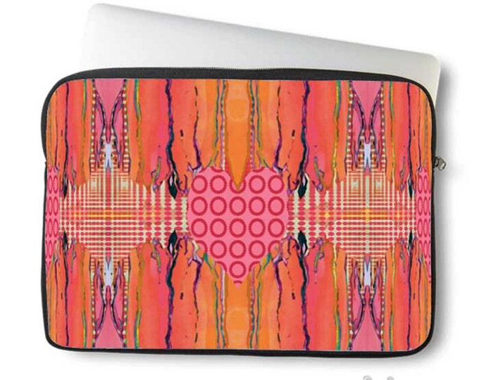 Artsy, Heart, Laptop Sleeve, Laptop bag, laptop case, neoprene, macbook, sleeve, Macbook case, Laptop Cover, Abstract, Art on Laptop case
