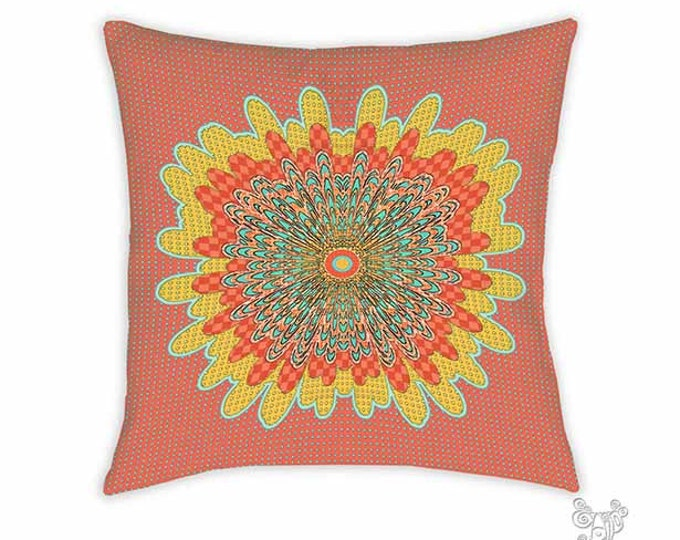 Molly pillow, Pillow, Decorative pillows, Red pillow, throw pillows, accent pillow, throw pillow, boho pillows, whimsical, mandala pillow