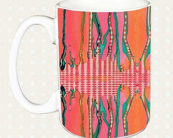 Artsy Mug, Unique, Coffee Mug, Funky, coffee cup, Abstract, Art, Ingrid Padilla