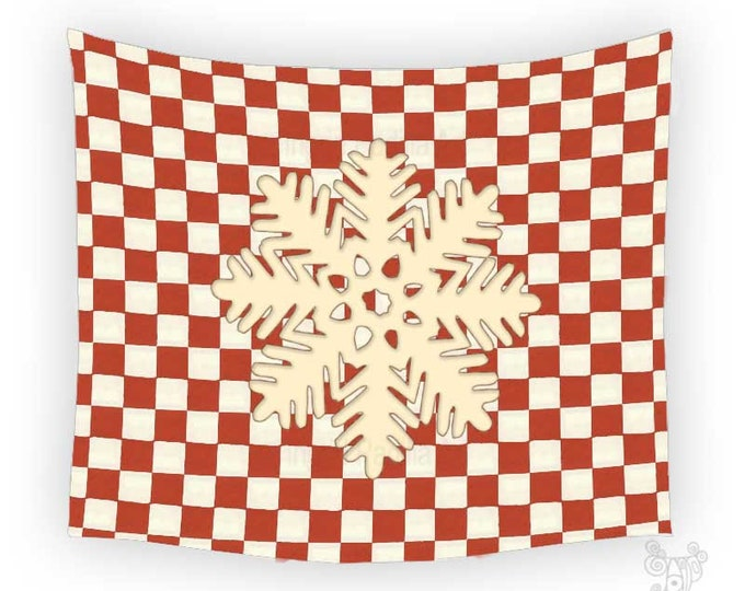 Christmas Tapestry, Tapestry, Snowflake tapestry, Wall Tapestry, Red tapestry, tapestry wall hanging, Wall Tapestry hanging, Art Tapestry