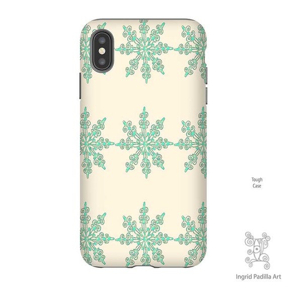 Snowflake Phone Case, Christmas Phone case, Snowflake iPhone Case, iPhone XS Max Case, Christmas iPhone Case, Galaxy S9 Case, iPhone 8 case