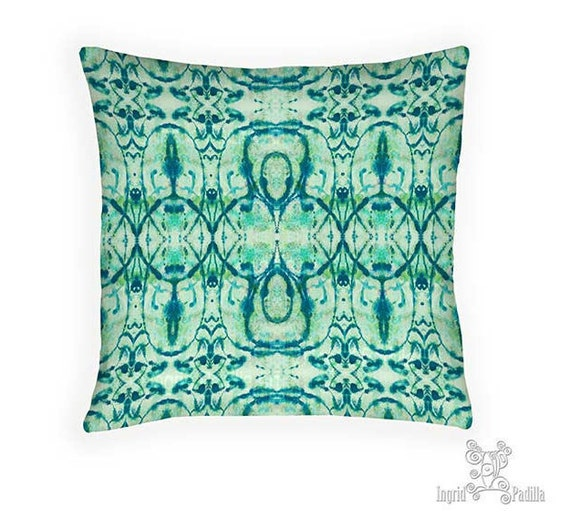Turquoise pillow, Pillow, Hippie Pillow, Decorative pillows, blue pillows, throw pillows, accent pillow, pillows, boho pillows, boho decor