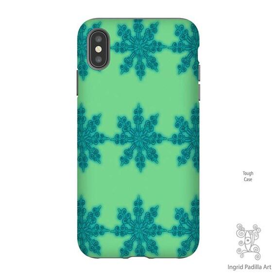 Snowflake Phone Case, Christmas Phone case, Snowflake iPhone Case, iPhone XS Max Case, Christmas iPhone Case, Galaxy S9 Case, iPhone 8 case