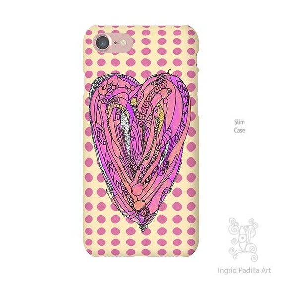 Heart Phone case, iPhone 7 case, iphone 7 plus case, iPhone Xs case, iphone 8 case, iPhone 5S case, iPhone 8 Plus case, Galaxy S7 Case, boho