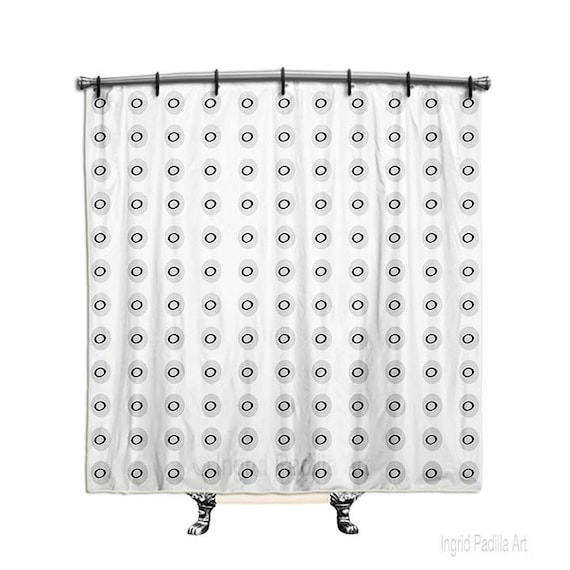 Minimalist Shower Curtain, Shower Curtain, black and white Shower curtain, Fabric Shower curtain, Bath Decor, Decor, Art