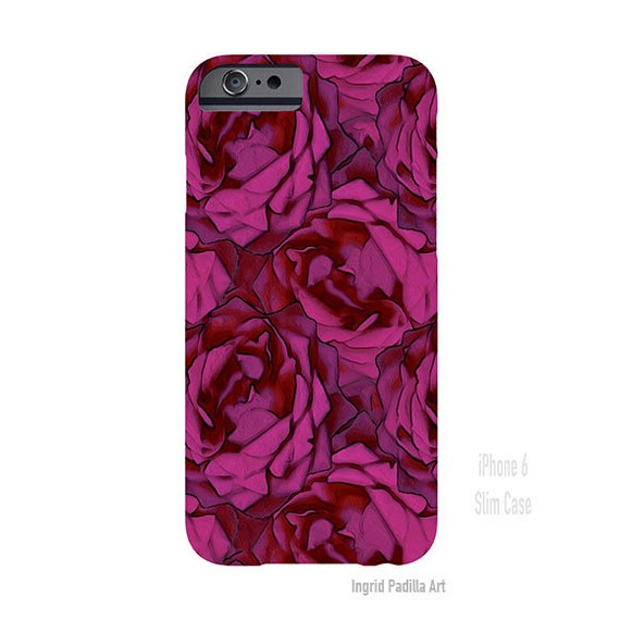 Floral iPhone 7 Case, iPhone 7 Case, Floral, Pink, rose iPhone case, iPhone 7 plus case, iPhone 6s case, iPhone 8 Plus case, Galaxy S7 Case