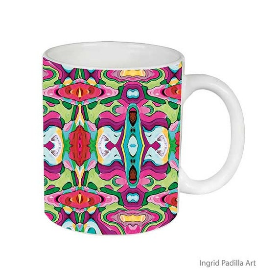 Cheri Mug, Mug, Artsy, Unique mugs, Coffee Mug, Funky, mug, coffee cup, Abstract, Art, Ingrid Padilla