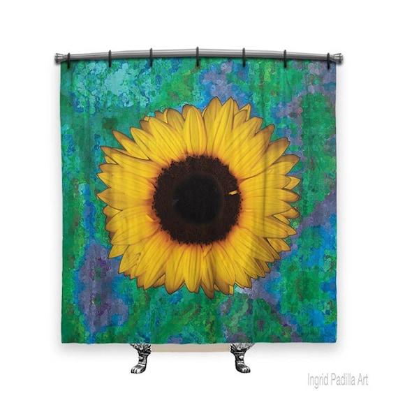 Sunflower Shower Curtain Curtains