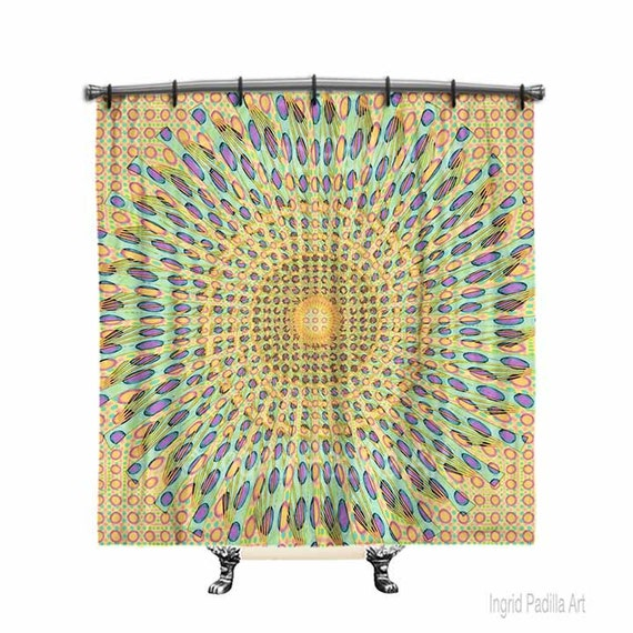 Shower curtain, BOHO Shower Curtain, Fabric shower curtain, Mandala shower curtain, Bohemian shower curtain, Bath Decor, Boho chic Decor