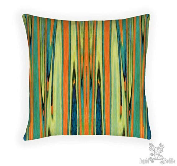 Turquoise and Orange pillow, Pillow, Decorative pillows, blue and orange pillow, throw pillows, accent pillow, pillow, boho pillows, boho