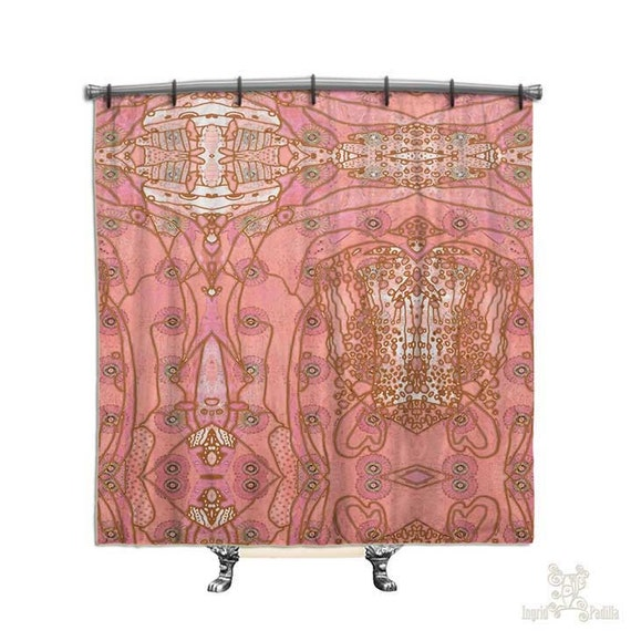 Pink Bohemian Shower Curtain BOHO Chic Style Hippie