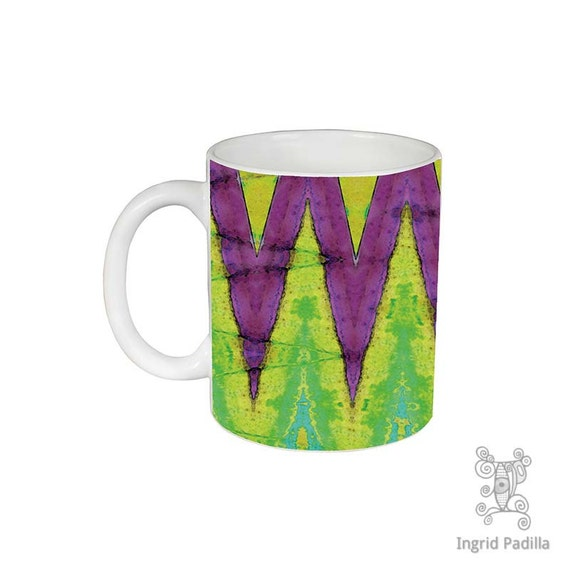 Geometric, Mug, Chevron Mug, Unique, Coffee Mug, Funky, mug, coffee cup, Abstract, Art, Ingrid Padilla