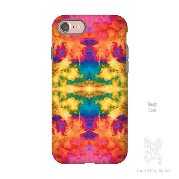 Pink Tie Dye, iPhone 7 Case, iphone 7 Plus case, iphone 8 case, iPhone Xs case, iPhone 8 plus case, iPhone 5S case, galaxy S7 Case, ingrid