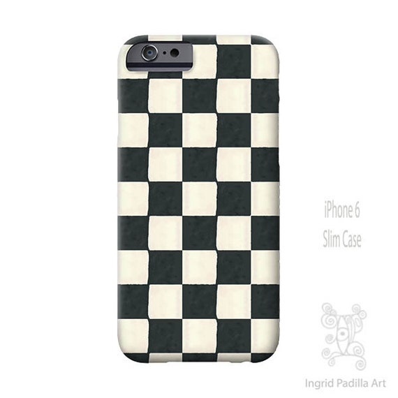 Black and white iPhone case, Checkered iPhone case, iPhone Xs case, Art, iphone 8 case, iPhone 7 case, iPhone 6s Plus, Galaxy S9 Case