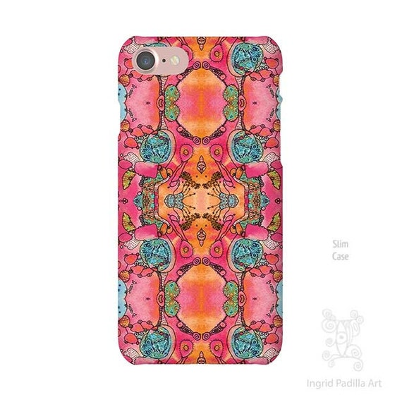 Pink iPhone case, iPhone 7 case, iphone 7 plus case, iPhone Xs case, iphone 8 case, iPhone X Case, iPhone 8 Plus case, Galaxy S9 Case, boho
